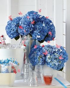 1000 images about martha stewart hydrangea punch on for Baby shower decoration ideas martha stewart