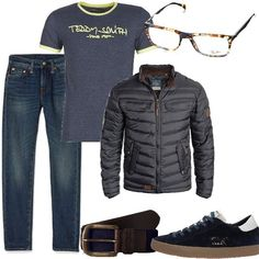 Outfit uomo Jeans regular Giacca blu Mar Rossi
