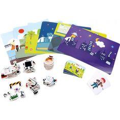 Puzzle magnetico Professioni  Con questo puzzle magnetico è possibile giocare e conoscere le  professioni. Ogni campione presenta inoltre uno sfondo a tema per ordinare le varie professioni.