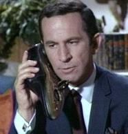 "TRIVIA NOTE: The origins of the shoe phone gimmick can be traced back to comic writer Mel Brooks who one day answered his shoe when all of the phones in the office began to ring at once. People still remember the phone skit and when Adams is in restaurants, or driving in his car...avid fans of the series still take off their shoe and say ""Here, it's for you."""