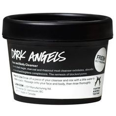 Black sugar and charcoal exfoliate and absorb excess oils to leave dull, oily or acne-prone skin feeling fresh and matte. Even oily skin can be sensitive, so we've made this one soft and soothing to calm redness and irritation, too. Its rhassoul mud base Dark Angels, Body Cleanser, Face Skin, Face And Body, Rhassoul, Charcoal Face Wash, Organic Avocado Oil, Lush Cosmetics, Cleanser