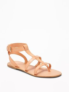 4ef46f30e Faux-Leather Gladiator Sandals for Women