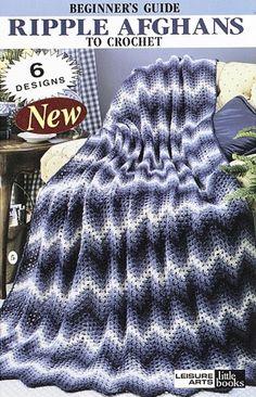 Leisure Arts - RIPPLE AFGHAN TO CROCHET eBook, $2.99 (http://www.leisurearts.com/products/ripple-afghan-to-crochet-digital-download.html)