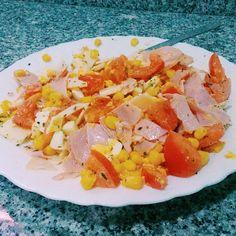 INSALATA - pomodoro mais prosciutto cotto uovo sodo