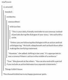 For all fanfiction writers, please use these rules! I hate reading bad grammar stories.<< I don't know whether to put this on my writing board or my grammar board. Writing Advice, Writing Help, Writing A Book, Writing Ideas, Writing Corner, Writing Guide, Writing Prompts For Writers, Writing Skills, The Words