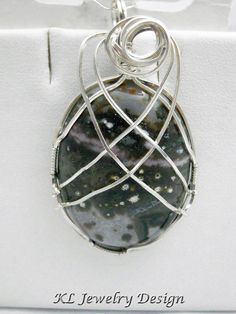 Ocean Jasper in Silver Pendant by KLJewelryDesign on Etsy, $23.50