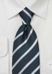 XXL-Krawatte Streifendesign Silbergrau Marineblau günstig kaufen . . . . . der Blog für den Gentleman - www.thegentlemanclub.de/blog