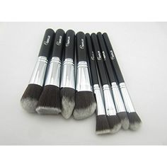 Smile 8 Pieces/lot Fiber Eyes Makeup Brushes Set With Black Wood Handle *** To view further for this item, visit the image link. (This is an affiliate link) #PersonalCare