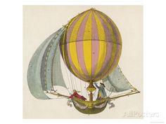 vintage looking illustration of a hot air balloon Air Ballon, Hot Air Balloon, Flying Balloon, Vintage Prints, Vintage Art, Steampunk Airship, Printed Balloons, Vintage Images, Sailing