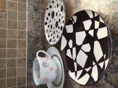 DIY Sharpie Plates and Mug :)