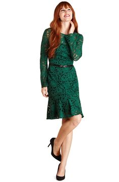 In love with this long sleeved lace dress!