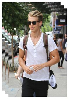 """""""Austin Butler"""" by sugarbubbles ❤ liked on Polyvore featuring art"""