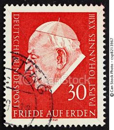 Stamp from Germany commemorating Pope John XXIII's encyclical Pacem in Terris