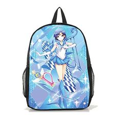 Dreamcosplay Sailor Moon Mizuno Ami logo Backpack Student Bag Cosplay ** You can get additional details at the image link.