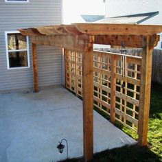 Vegatation over Pergola - Design Ideas - Archadeck Cheap Privacy Fence, Privacy Trellis, Privacy Fence Designs, Backyard Privacy, Pergola Designs, Pergola Patio, Backyard Patio, Backyard Landscaping, Pergola Kits