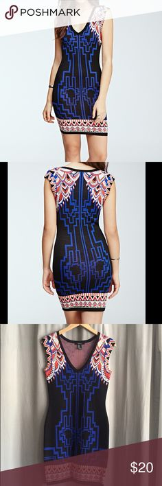 Forever 21 body con dress Forever 21 body con dress with Art Deco design. Very flattering cut. Only wore once. Forever 21 Dresses Mini