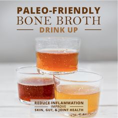 Paleo-Friendly Bone Broth Recipes. Drink up and improve your health! #bonebroth