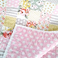 "Make this adorable baby quilt in just a few hours using this ""cheater"" technique! Great for those last minute gifts!"