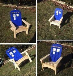 Doctor who Tardis Adirondack muskoka chair
