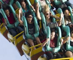 Vanessa Hudgens and Ashley Benson spend the day at Busch Gardens theme park, Tampa, Florida.