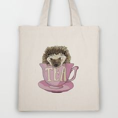 The Hedgehog who loved Tea Tote Bag