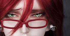 Grell's eyes are so beautiful. Grell Black Butler, Black Butler Kuroshitsuji, Ciel Phantomhive, Yes My Lord, Emo Guys, Best Cosplay, Animes Wallpapers, Madame Red, Kawaii Anime