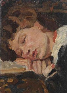 Jan Sluijters - Slapend meisje (1906)