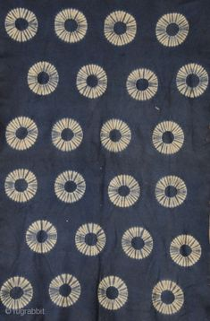 Resist dyed felt, Indigo dye Japan Late 19th/ early 20th Century Artist Study , circles , Art Featuring Circles, Inspiration for CAPI Students at milliande.com , circles, kreis, symbology , metaphor, emotion, idea, art