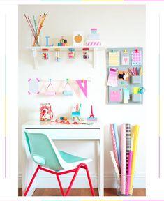 colorful, organized craft area #craft #organized