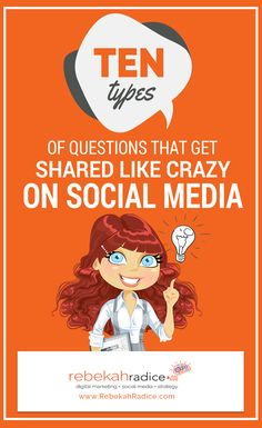 10 Types of Questions That Get Shared on Social Media Like Crazy Social Media Marketing Business, Social Media Trends, Online Marketing, Digital Marketing, Marketing Plan, Content Marketing, Mobile Marketing, Marketing Strategies, Inbound Marketing