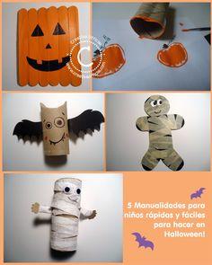 5 Manualidades para niños fáciles y rápidas para hacer en Halloween! | No te pierdas estas 5 ideas super fáciles para hacer con los niños en este Halloween ;) Dale click al link para ver como hacerlas => http://creativaofficial.com/5-manualidades-para-ninos-faciles-y-rapidas-de-hacer-en-halloween/