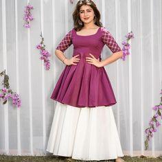 Girls Dresses Sewing, Stylish Dresses For Girls, Casual Dresses, Sleeves Designs For Dresses, Dress Neck Designs, Lehnga Dress, Frock Dress, Indian Gowns Dresses, Pakistani Dresses