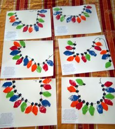 Sponge lights w/poem @ Christmas time -- if you do this with finger prints, it could make a really cute Christmas card.