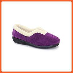a4bf6fef7f924 Lunar Corrine Slipper, Fur Lined, Beige, Blue, Purple, Red, 5,6,7,8,9,10 10  Purple - Slippers for women (*Amazon Partner-Link)