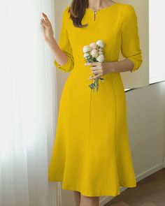 Spring Elegant Dresses has never been so Top! Since the beginning of the year many girls were looking for our Lovely guide and it is finally got released. Now It Is Time To Take Action! Simple Dresses, Elegant Dresses, Pretty Dresses, Beautiful Dresses, Casual Dresses, Short Sleeve Dresses, Summer Dresses, Dresses Dresses, Dance Dresses