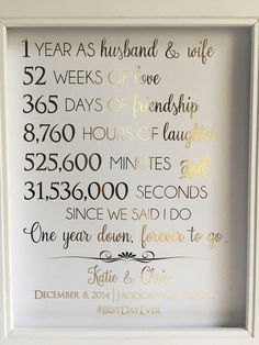 Modern and Traditional Anniversary Gifts by Year | ** All Things ...