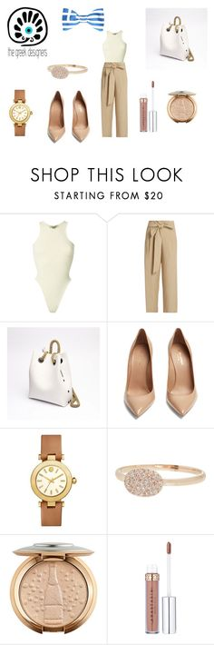 """""""Grecian Chic Backpack"""" by reagodo ❤ liked on Polyvore featuring Yeezy by Kanye West, MASSCOB, Yves Saint Laurent, Tory Burch, Meira T, backpack, thegreekdesigners and greekbackpack"""