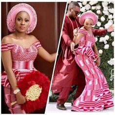 Hottest Kente Styles For Celebrities African Bridesmaid Dresses, African Wedding Attire, Latest African Fashion Dresses, African Dresses For Women, African Print Fashion, African Attire, Ankara Fashion, African Traditional Wedding Dress, Traditional Wedding Attire
