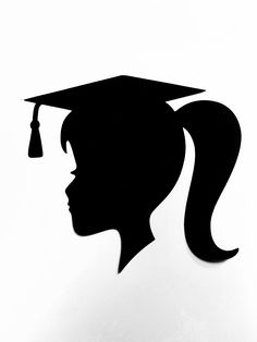 DIY Graduation Cut Out ONLY, Graduation Girl Silhouette Cut Out, Graduation Decoration, Graduation Party, Class of 2020 Boy Silhouette, Silhouette Pictures, Graduation Party Centerpieces, Graduation Decorations, Graduation Silhouette, Cut Out Pictures, Graduation Diy, Graduation Quotes, Grad Parties