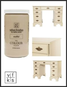 Velvet Finishes by Kellie Smith™ | A NO sand, NO wax, NO brushstroke furniture paint | Guaranteed to rock your world!