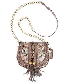 Carlos by Carolos Santana Handbag, Trenza Flap Crossbody - Handbags & Accessories - Macy's