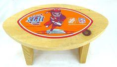 #SuperBowlXLII Wood Stool NY Giants New England Patriots Home Depot #HomeDepot #NewYorkGiants