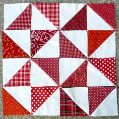 Half Square Triangle Quilt Blocks by IamSusie, via Flickr