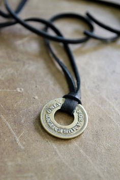 Vintage Token Necklace  Mens Necklace  For Amusement by Keytiques