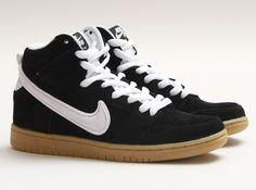 Nike SB Dunk High – Black – White – Gum Light Brown