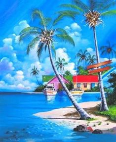 Beach Discover Tranquility Key West Each Print is a colorful reproduction of an acrylic painting. Small & Medium prints are double matted. Large prints are single matted. Lake Pictures, Nature Pictures, Beautiful Pictures, Seascape Paintings, Landscape Paintings, Beach Paintings, Painting Art, Tropical Paintings, Pastel Paintings