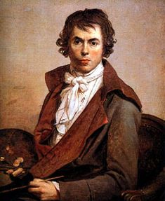 Jacques-Louis David:  Self Portrait  1794 Musée du Louvre at Paris - David painted his first self-portrait in 1784, in which he looks like a figure by Fragonard. This picture, which he painted in prison after the fall of Robespierre, expressed--perhaps more fully than the others--David's power and truthfulness, his determination, lucidity, and self-respect.