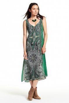 Brula Paisley Printed Silk Dress  | Calypso St. Barth