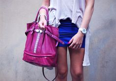 We love this girly pink Guess hand bag…