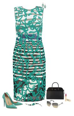 """Teal print"" by julietajj on Polyvore featuring Ippolita, Rene Escobar, Missoni, Office, Paul's Boutique, Dolce&Gabbana, Swarovski, women's clothing, women and female"